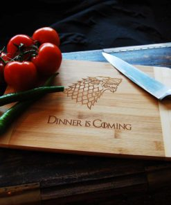 Dinner is comming skjærebrett, inspirert av Game of Thrones